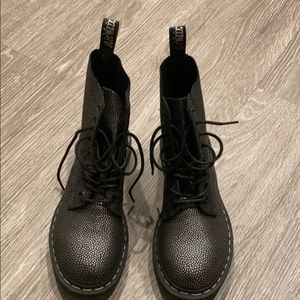 Dr. Martens Black/Silver Pascal Combat Boot